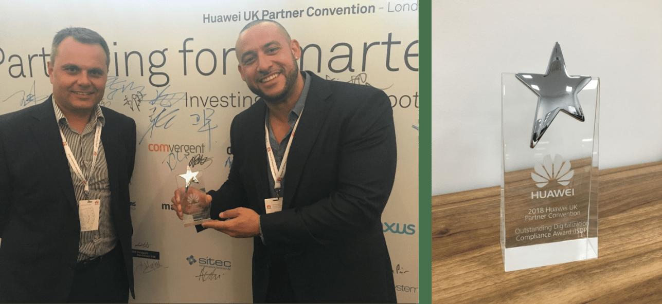 Paul Garston and James Potter Huawei award
