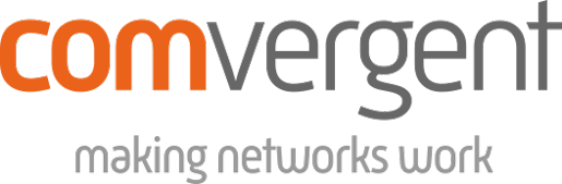 Comvergent Logo Orange and Grey