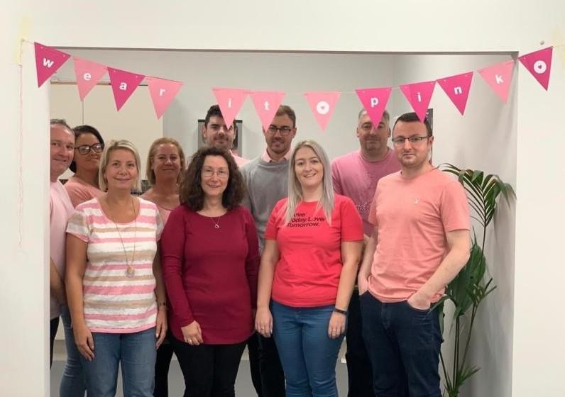 Comvergent team Wear it Pink